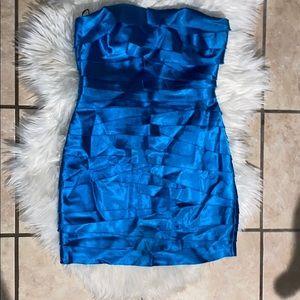 super pretty blue BEBE dress